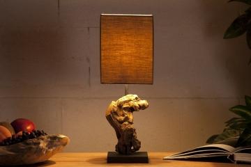 """Invicta Interior Tischlampe """"Hypnotic"""", braun"""