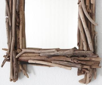 budawi Spiegel aus Treibholz, eckig
