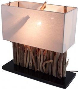 Lampe Tischlampe / Tischleuchte aus recyceltem Holz - Holzlampe Treibholz 16x35cm 40cm hoch - Jede Lampe ein Unikat - 1