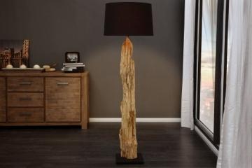 Riesige Design Stehlampe ROUSILIQUE Treibholz Lampe schwarz Handarbeit - 1