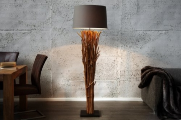 Riesige Design Treibholz Stehlampe EUPHORIA 180cm grau braun Handarbeit - 1