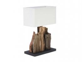 Tischlampe Carlene 40x20cm Leinen natur Treibholz - 1