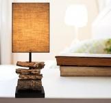 Design Treibholzlampe DRIFT WOOD mit edler Teakbasis - 1
