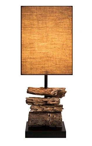 "Design Treibholzlampe ""Drift Wood"" mit edler Teakbasis"