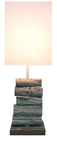 "Design Treibholzlampe ""Pure"" mit edler Teakbasis"
