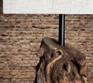Levandeo Tischlampe aus Treibholz, beige