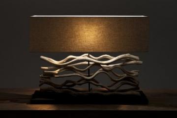 """SalesFever Tischleuchte """"Wooden Arts"""", 80cm"""