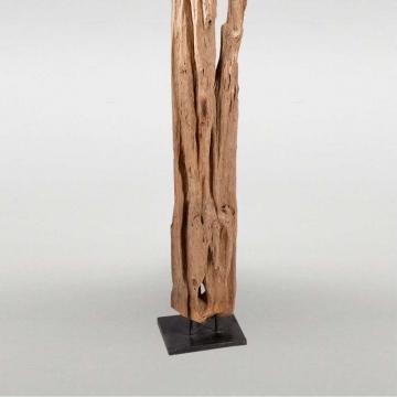 """Skulptur """"Koropi"""" aus recyceltem Holz"""