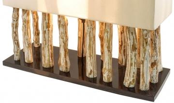 Levandeo Tischleuchte aus recyceltem Holz